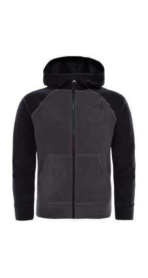 The North Face Youth Glacier Full Zip Fleece Jacket Graphite Grey/Black